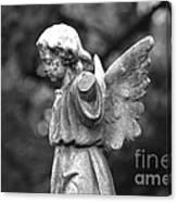 Broken Angel Bw Canvas Print