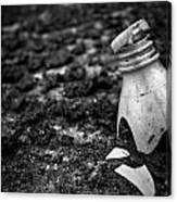 Broken Plastic Bottle Canvas Print