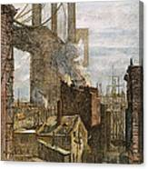 Brooklyn Bridge, 1882 Canvas Print