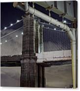 Brooklyn Bridge And A Drain Canvas Print