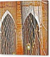 Brooklyn Bridge Arch Canvas Print