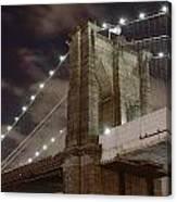 Brooklyn Bridge At Night - Btc-merge Canvas Print
