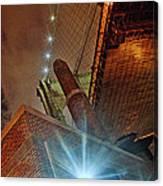 Brooklyn Bridge At Night Canvas Print