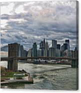 Brooklyn Bridge Carousel Canvas Print