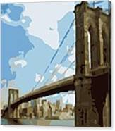 Brooklyn Bridge Color 16 Canvas Print