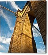 Brooklyn Bridge End Of The Day Canvas Print