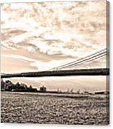 Brooklyn Bridge In Sepia Canvas Print