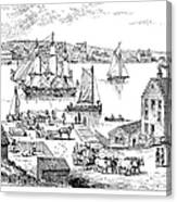 Brooklyn Ferry, C1765 Canvas Print