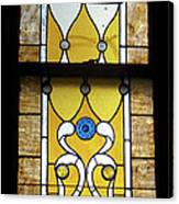 Brown Stained Glass Window Canvas Print