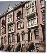 Brownstone Apartments Under Renovation Canvas Print