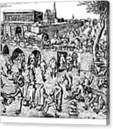 Bruegel: Ice Skaters Canvas Print