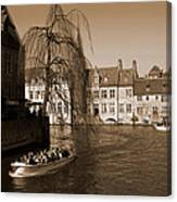 Bruges Canal Canvas Print