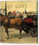 Brugge Carriage Canvas Print