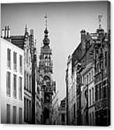 Brussels In Black And White Canvas Print