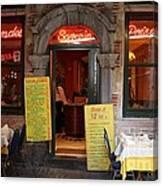 Brussels - Restaurant Savarin Canvas Print