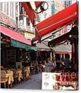 Brussels Restaurant Street - Rue De Bouchers Canvas Print