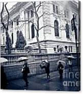 Bryant Park Umbrella Runway Canvas Print