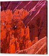 Bryce Textures In Red Canvas Print