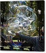 Bubble Blowr Of Central Park Canvas Print