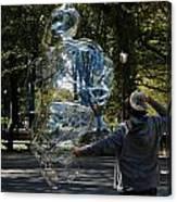 Bubble Boy Of Central Park Canvas Print