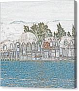 Bubble House In Pencil Skech Canvas Print