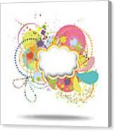 Bubble Speech Canvas Print