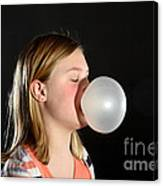 Bubblegum Bubble 2 Of 6 Canvas Print