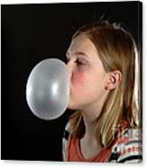 Bubblegum Bubble 3 Of 6 Canvas Print