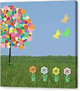 Bubblegum Tree Canvas Print