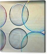 Bubbles On The Water Canvas Print