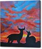 Buck And Doe Canvas Print