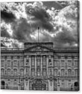 Buckingham Palace Bw Canvas Print