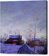 Bucks County Winter Twilight Canvas Print