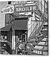 Bud'd Broiler New Orleans-bw Canvas Print