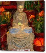 Buddha In Red Canvas Print