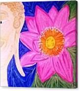 Buddha Lotus Peace Canvas Print