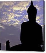 Buddha Silhouette Canvas Print