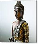 Buddha Statue With A Golden Robe Canvas Print