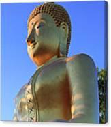 Buddha With Sunset Canvas Print