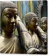 Buddhas With Umbrellas Canvas Print