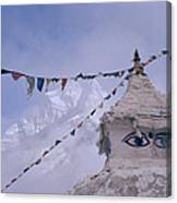Buddhist Shrine In The Himalayas Canvas Print