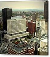 Buffalo New York Aerial View Canvas Print