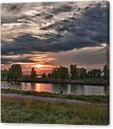 Buffalo Sunset 14390 Canvas Print