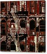 Building Facade In Brown And Red Canvas Print