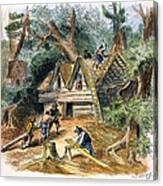 Building Houses, 17th C Canvas Print