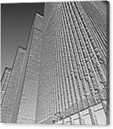 Building In Monochrome Canvas Print