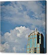Building With Its Head In The Clouds Canvas Print