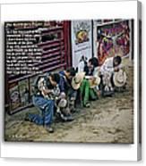 Bull Riders Prayer - With Prayer Text Canvas Print