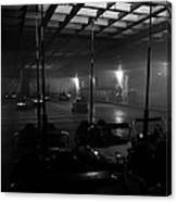Bumper Cars In Fog Canvas Print