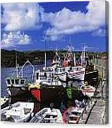 Bunbeg, Donegal, Ireland Harbour Of A Canvas Print